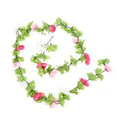 Pink & White Summer Floral Garland
