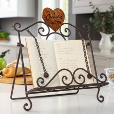 Personalised Farmhouse Cookbook Stand with Heart