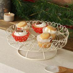 Heart Trim Single Tier Country Cream Cake Stand