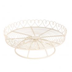 Heart Trim Single Tier Cake Stand
