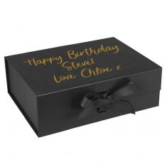 Personalised A4 Black Gift Box