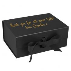 Personalised A5 Black Gift Box