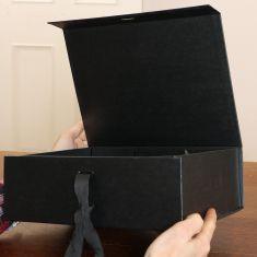 A5 Black Ribbon Tie Gift Box