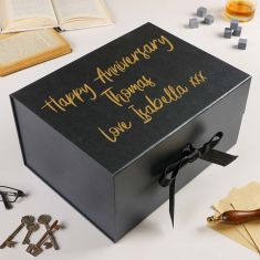 Personalised Extra Deep A4 Black Gift Box