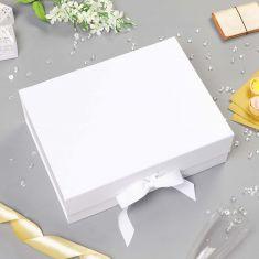 Large A4 Ivory Ribbon Tied Gift Box