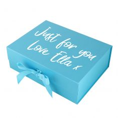 Personalised A4 Bright Blue Gift Box