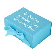 Personalised A5 Bright Blue Gift Box