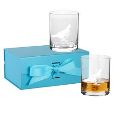 Pheasant Tumbler Highland Whisky Glass Gift Set