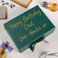 Personalised A4 Forest Green Gift Box