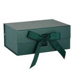 A5 Forest Green Ribbon Tied Gift Box
