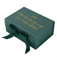 Personalised A5 Forest Green Gift Box