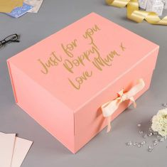 Personalised A4 Deep Pink Luxury Gift Box