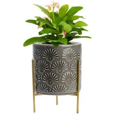 Art Deco Planter on Tripod Stand