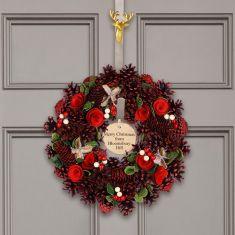 Personalised Pinecone Thistle Wreath 14