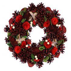 Pinecone Thistle Winter Wreath 14
