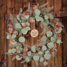 Personalised Mountain Spruce Wreath 24