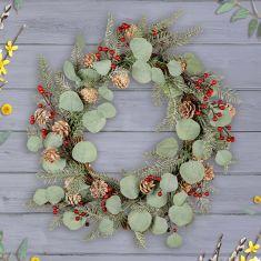 Spring Eucalyptus & Redcurrant Door Wreath