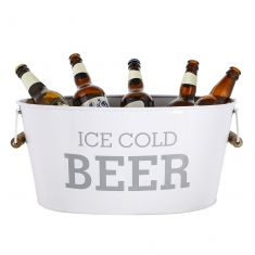 'Ice Cold Beer' White Beer Bucket