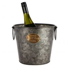Country Living Aged Zinc Ice Bucket