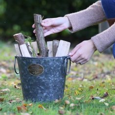 Country Living Aged Zinc Kindling Bucket