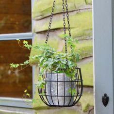 Industrial Hanging Basket Planter