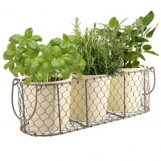 Cottage Grey and Cream Trio Basket