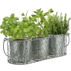 Sage Green and Zinc Trio Basket