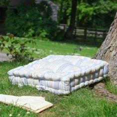 Giant Oxford Blue Striped Cushion Seat Pad Mattress Cushion