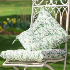 Set of 2 Organic Botanical Garden Seat Pads