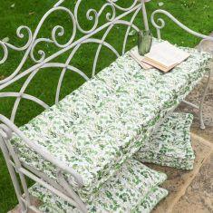 Meadowbrook Botanical Print Garden Bench Mattress Cushion