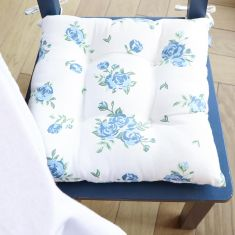 Set of 2 Heritage Bloom Organic Cotton Seat Pads with Ties