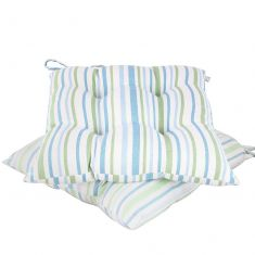 Set of 2 Tenby Stripe Seat Pads with Ties