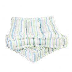 Pair of Pastel Stripe Garden Mattress Seat Cushions