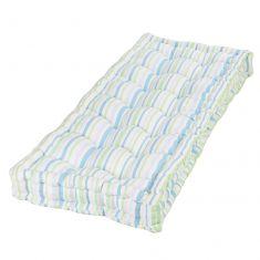 Tenby Stripe Pastel Vintage Garden Bench Mattress Cushion