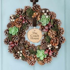 Personalised Alpine Forest Wreath 14