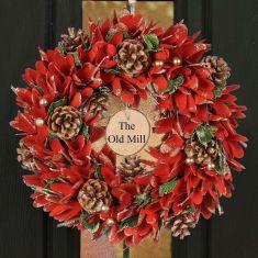 Personalised Festive Firecracker Wreath 14