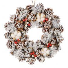 Cotton Snowdrift Winter Wreath 14