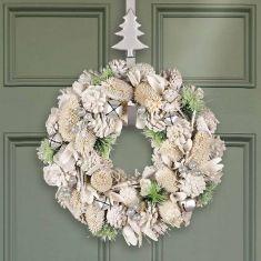Silver Bells Enchanting Door Wreath