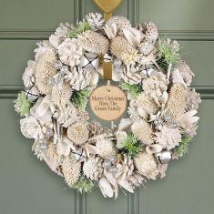 Personalised Silver Bells Wreath 14