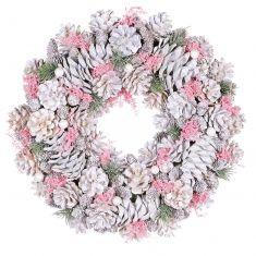 Fairytale Pink Christmas Door Wreath 15.5