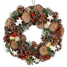 Starry Night Christmas Wreath 13.5