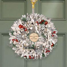 Personalised Winter Snowdrop Wreath 16