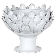 Ceramic White Leaf Decorative Bowl