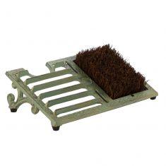 Fern Green Cast Iron Boot Brush Scraper