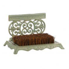 Fern Green Ornate Boot Brush and Scraper