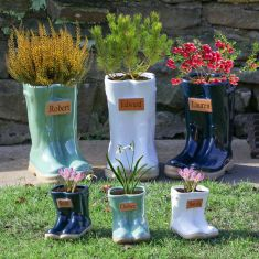 Personalised Welly Boot Ceramic Planters