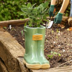 Personalised Large Green Wellington Planter