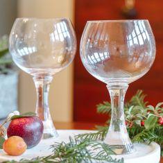 Set of 2 Chunky Stemmed Gin Glasses