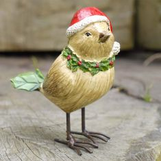 Standing Sparrow Christmas Decoration