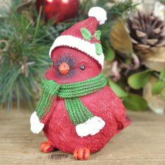 Sitting Red Bird Christmas Decoration